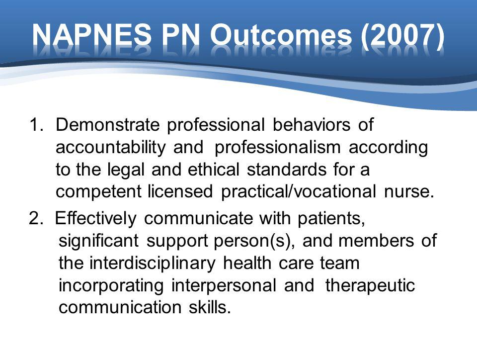 NAPNES PN Outcomes (2007)