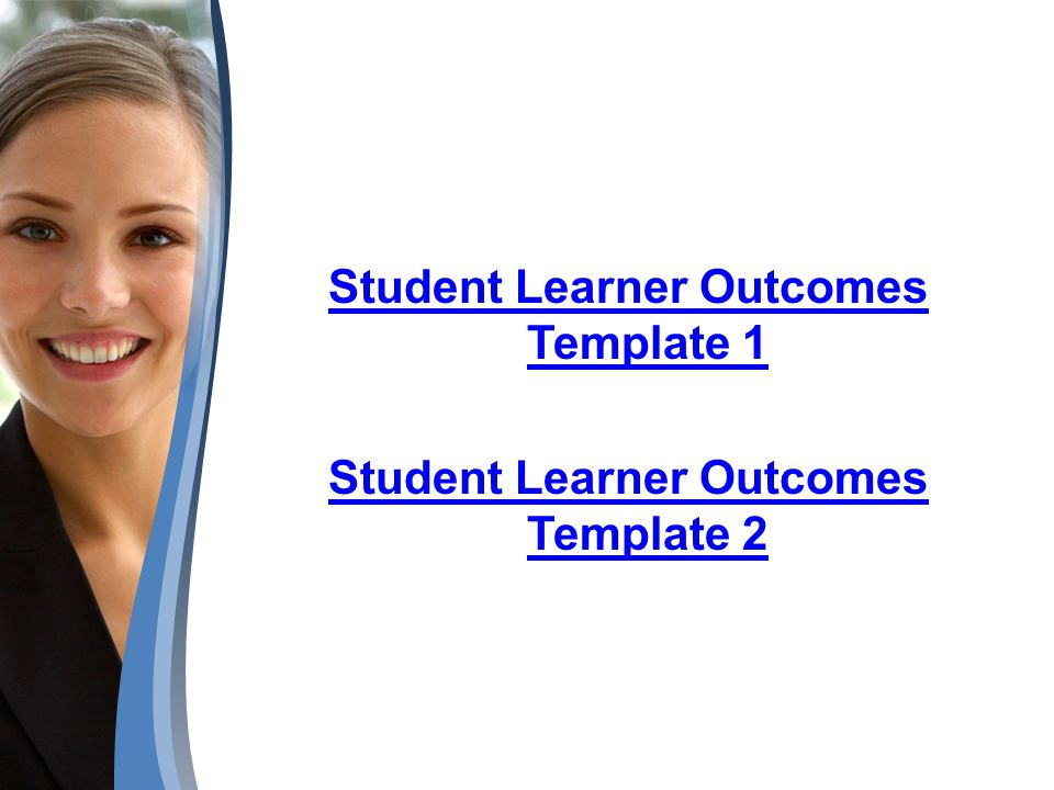 Student Learner Outcomes Template 1