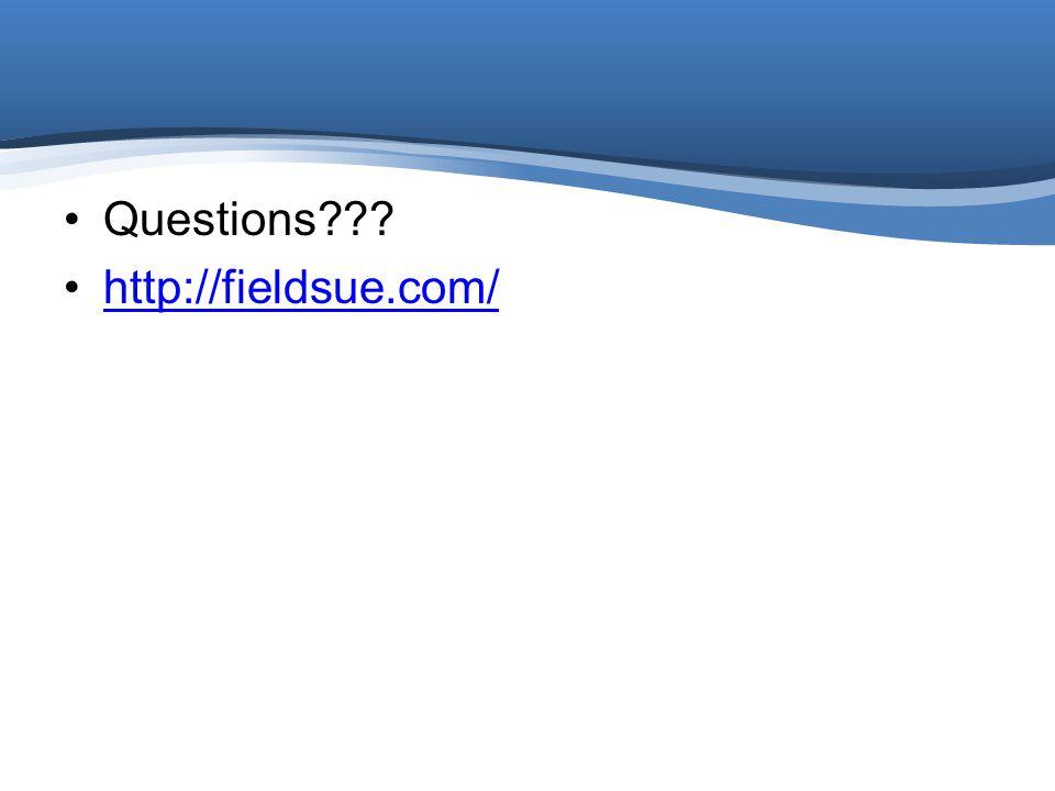 Questions http://fieldsue.com/