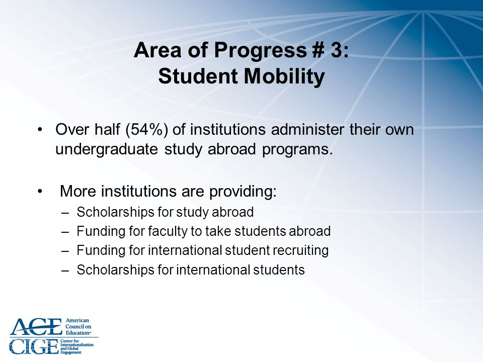 Area of Progress # 3: Student Mobility