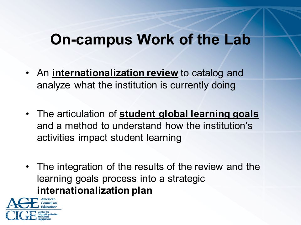 On-campus Work of the Lab