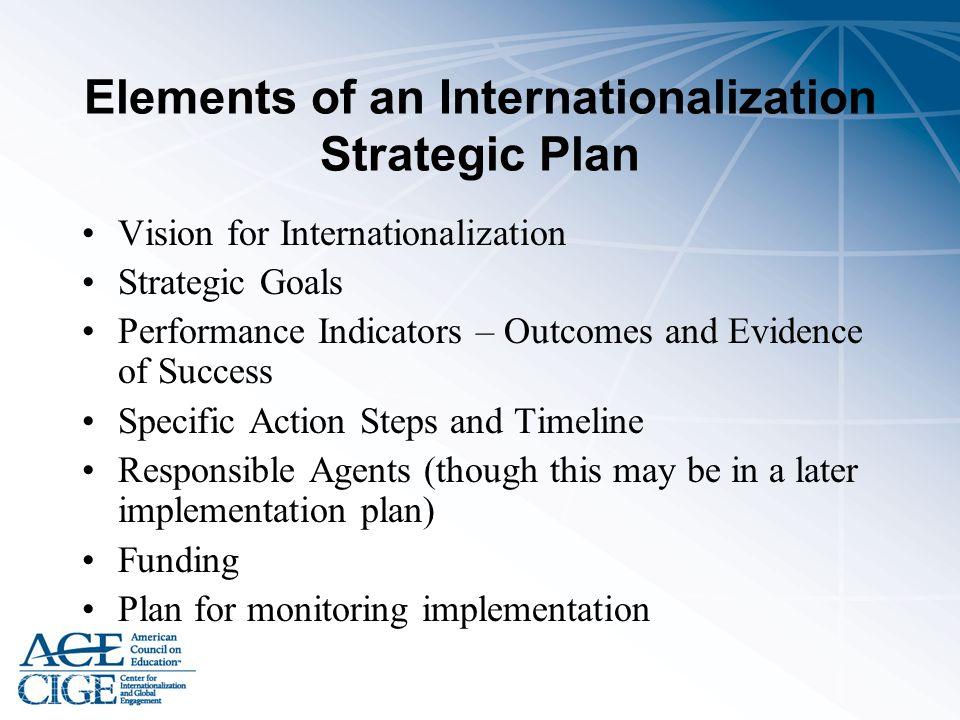 Elements of an Internationalization Strategic Plan