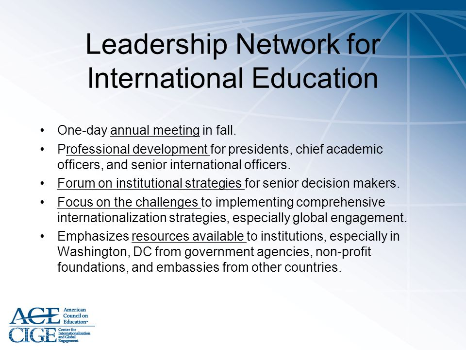 Leadership Network for International Education