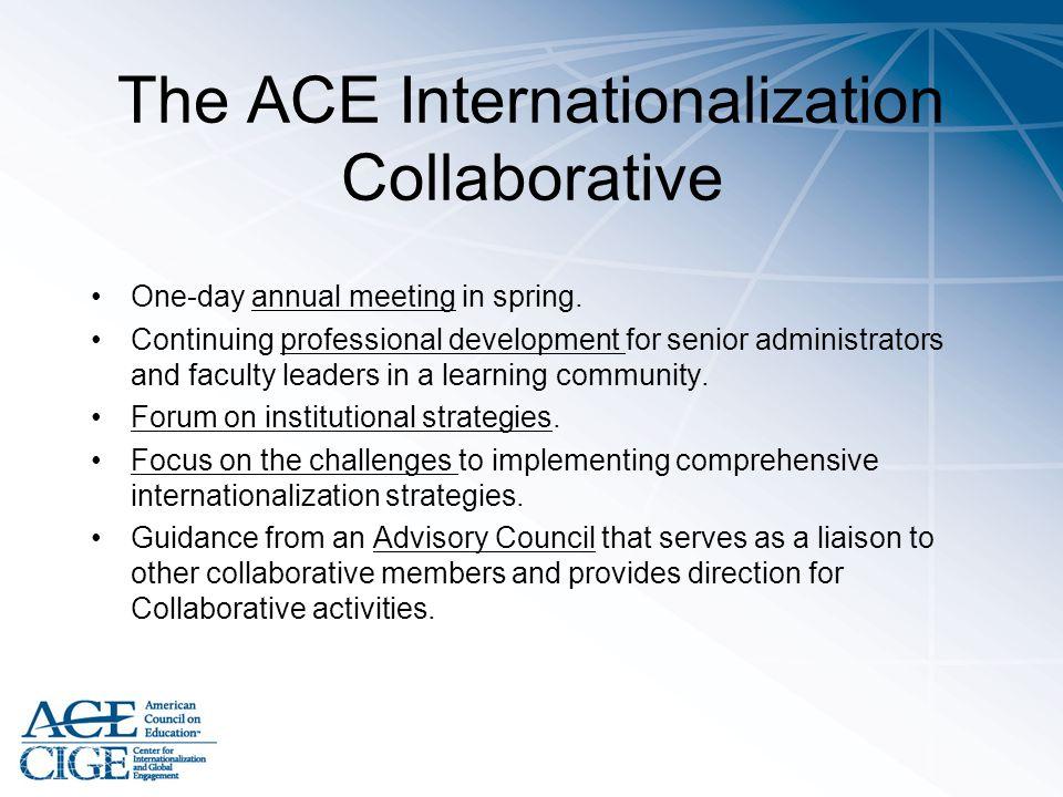 The ACE Internationalization Collaborative