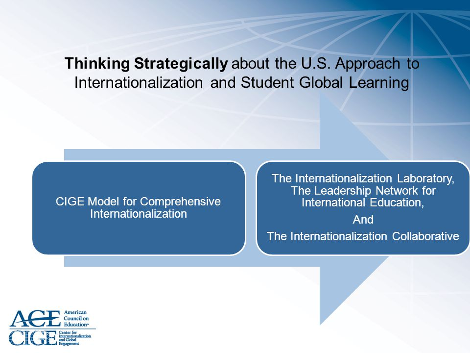 Thinking Strategically about the U. S
