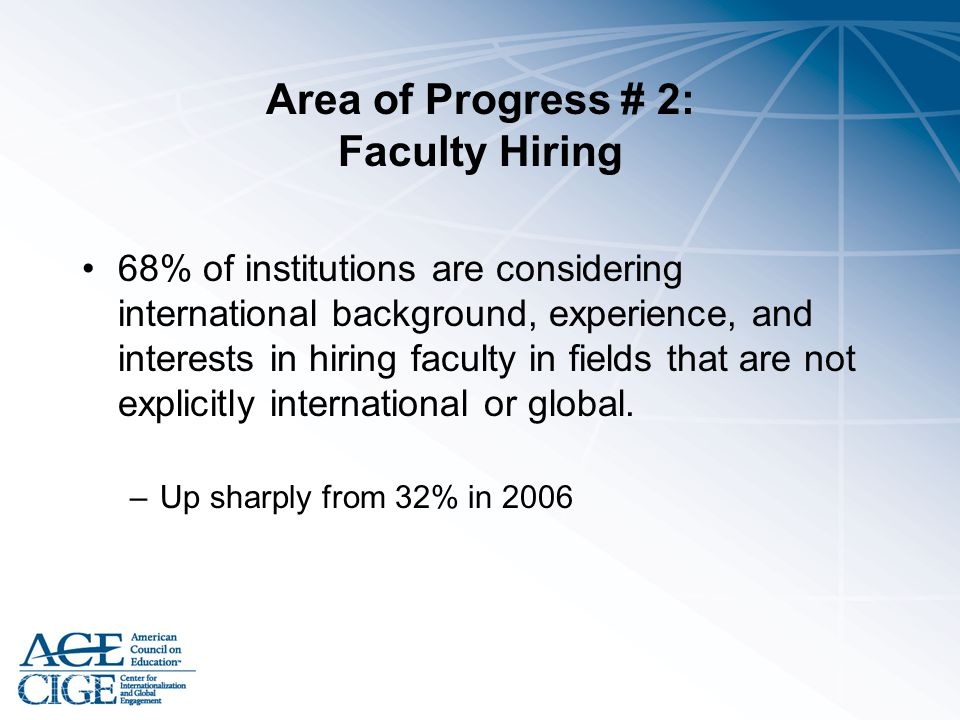 Area of Progress # 2: Faculty Hiring