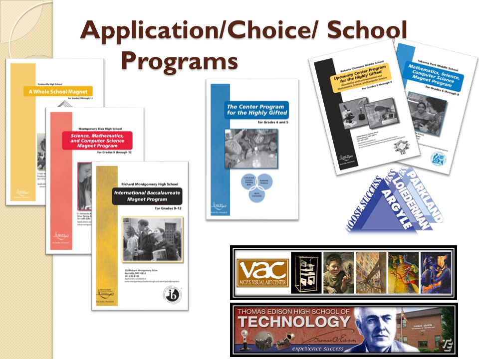 Application/Choice/ School Programs