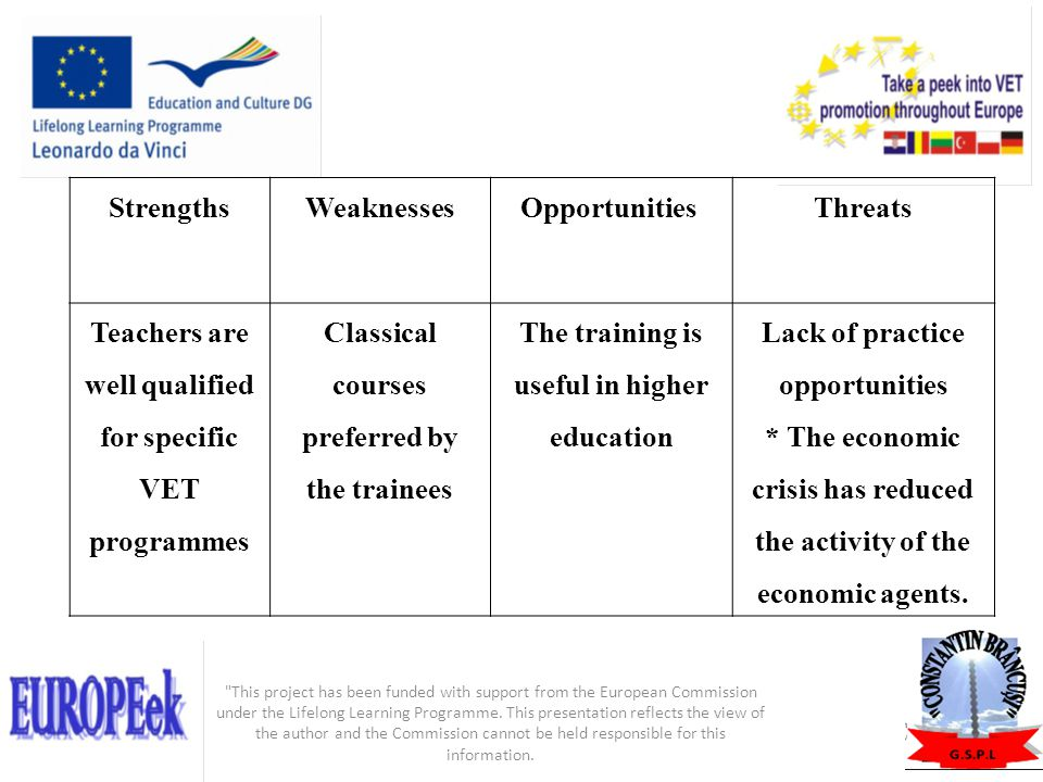 Teachers are well qualified for specific VET programmes