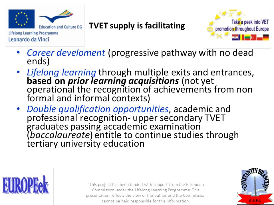 TVET supply is facilitating