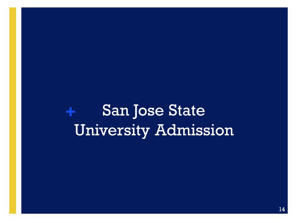 San Jose State University Admission