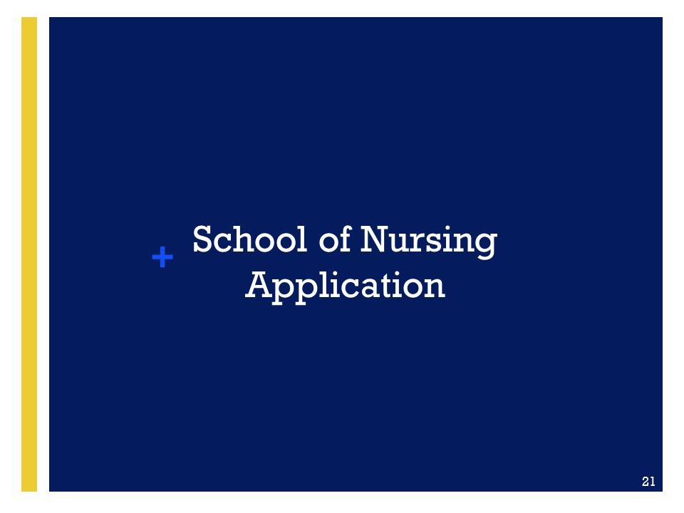 School of Nursing Application