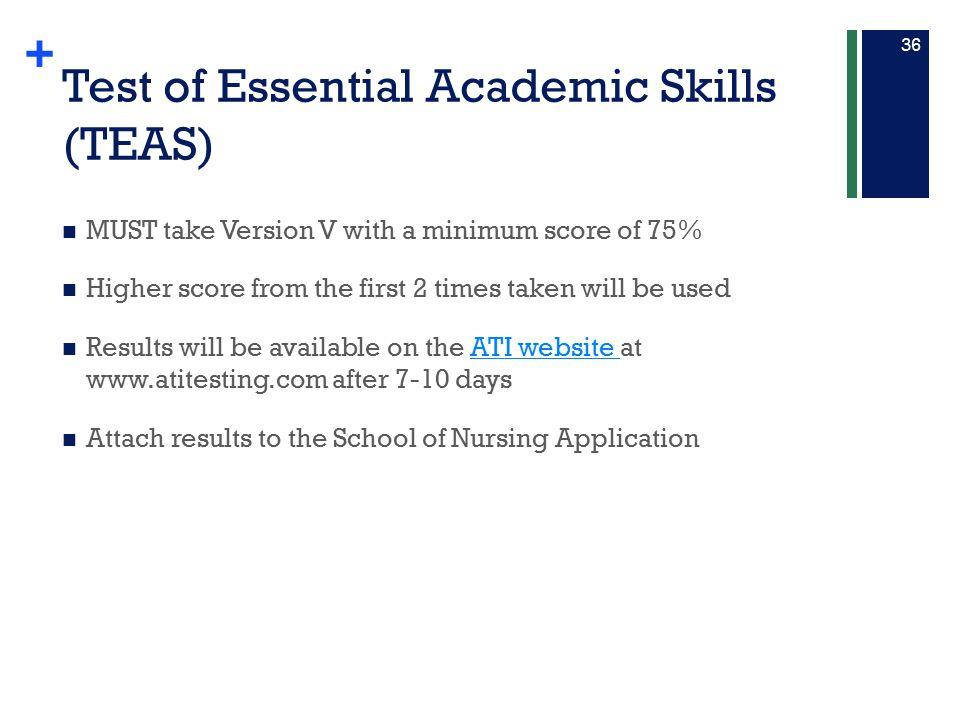 Test of Essential Academic Skills (TEAS)