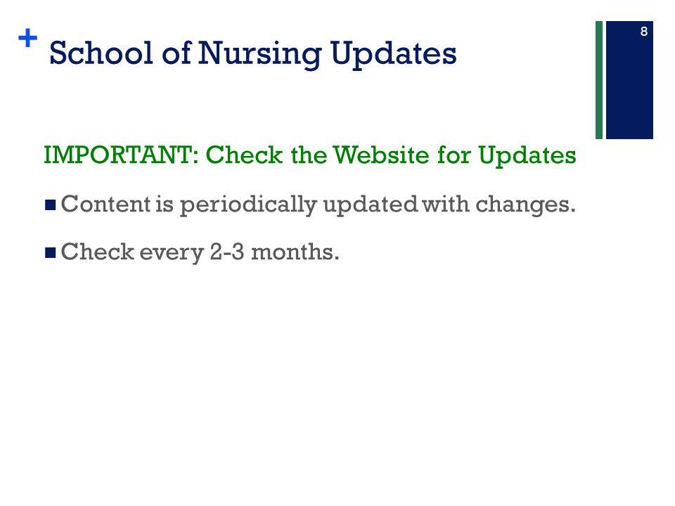 School of Nursing Updates