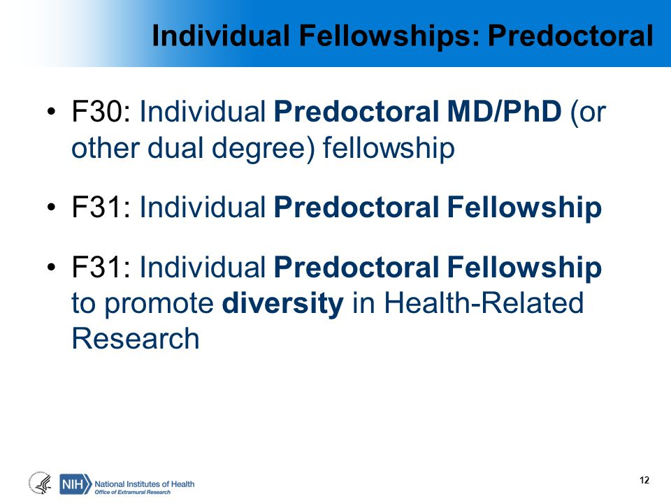 Individual Fellowships: Predoctoral