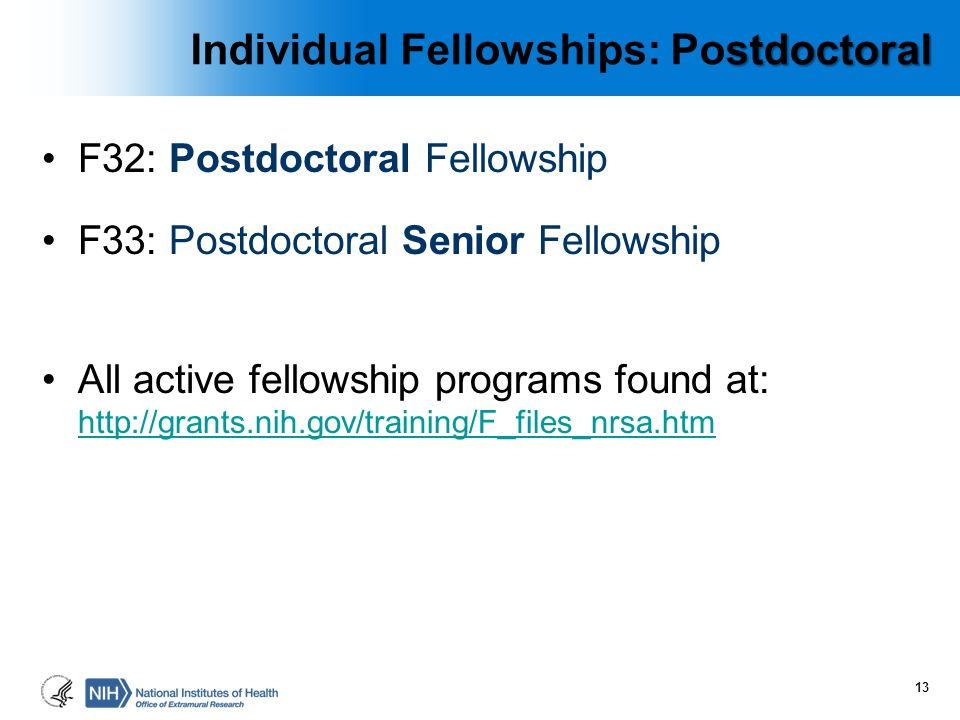 Individual Fellowships: Postdoctoral