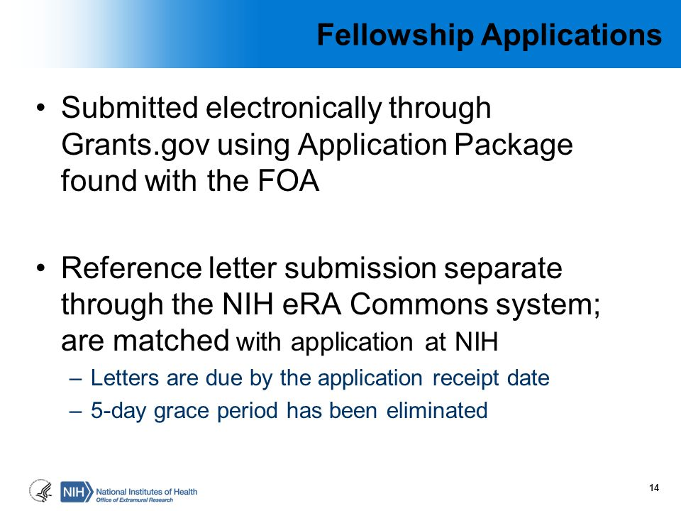 Fellowship Applications