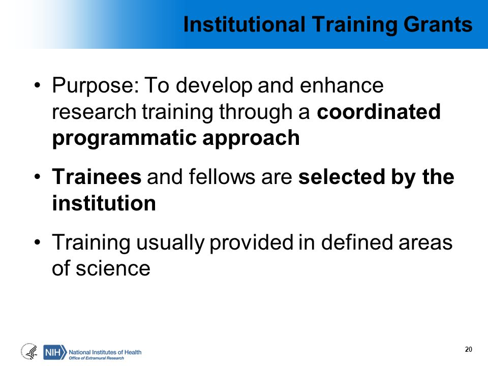 Institutional Training Grants