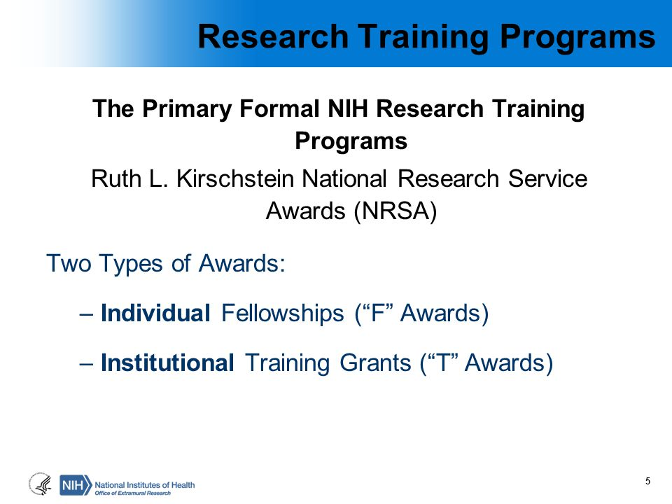 Research Training Programs