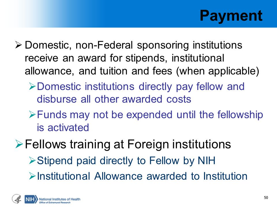 Payment Fellows training at Foreign institutions