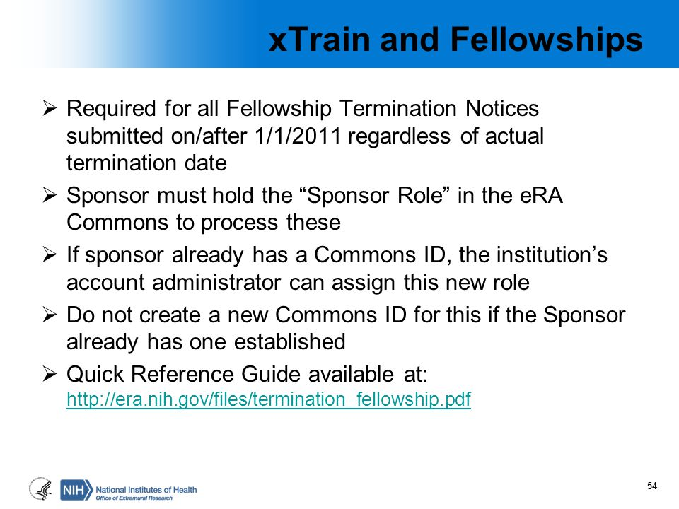 xTrain and Fellowships
