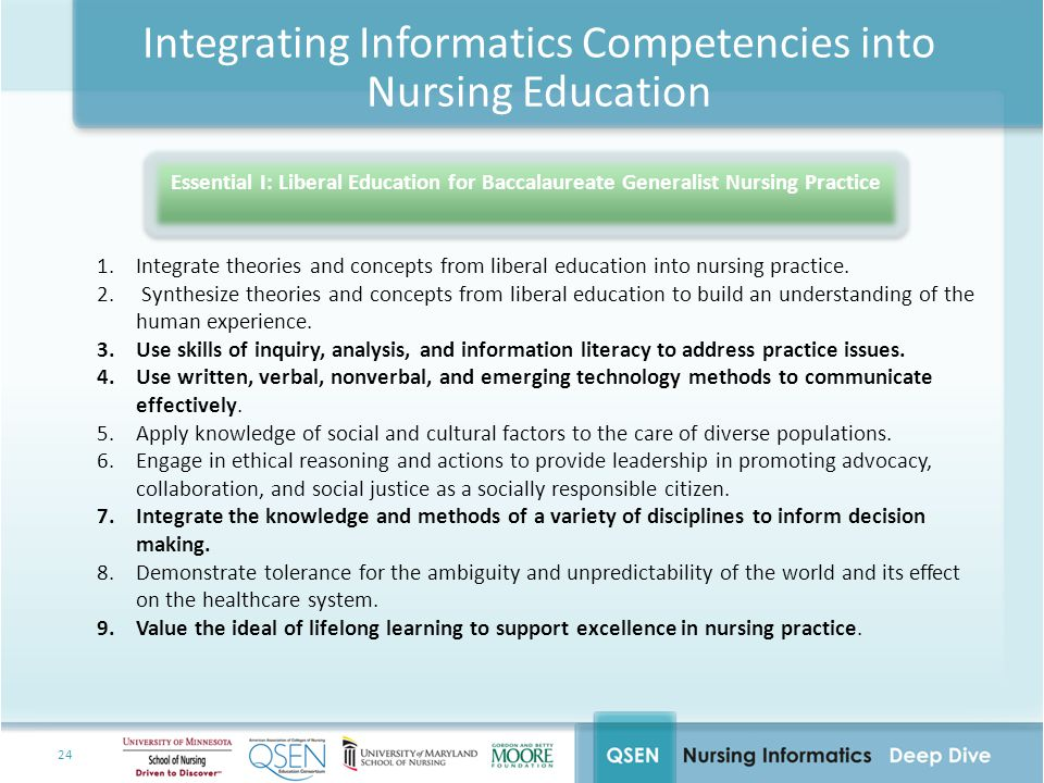 Integrating Informatics Competencies into Nursing Education