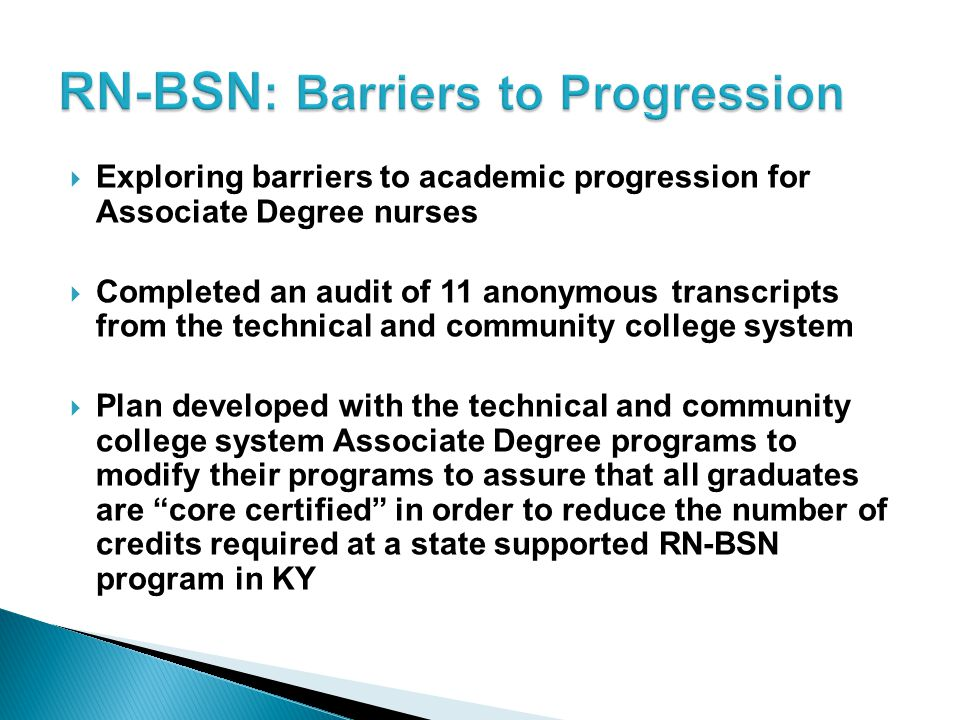RN-BSN: Barriers to Progression