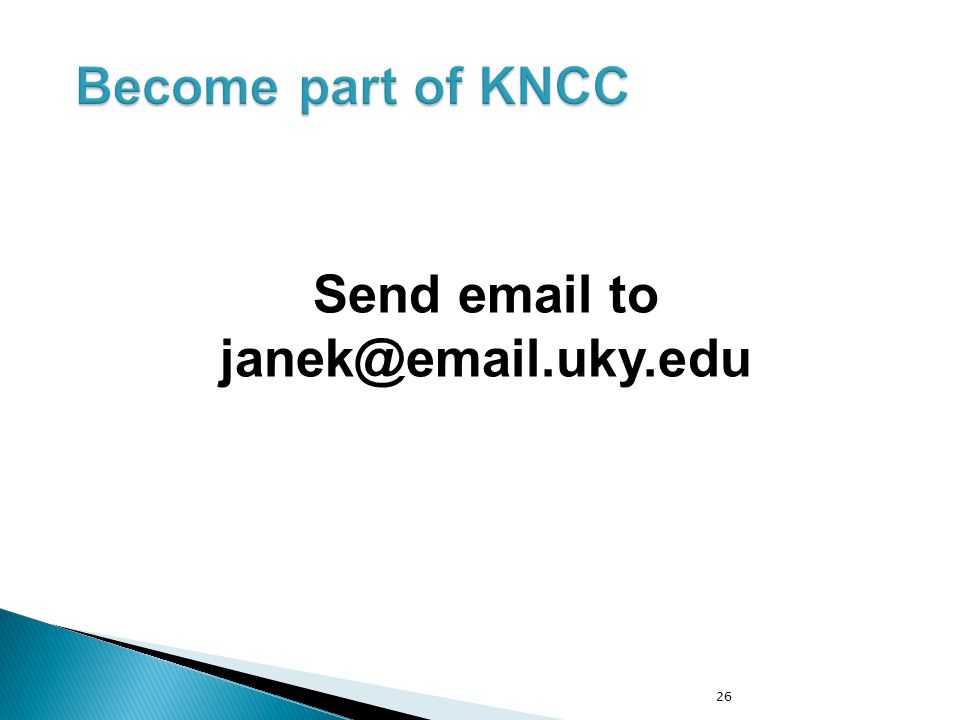 Send email to janek@email.uky.edu