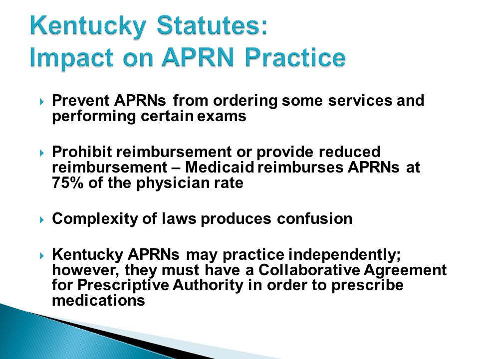 Kentucky Statutes: Impact on APRN Practice