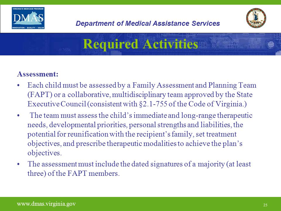 Required Activities Assessment: