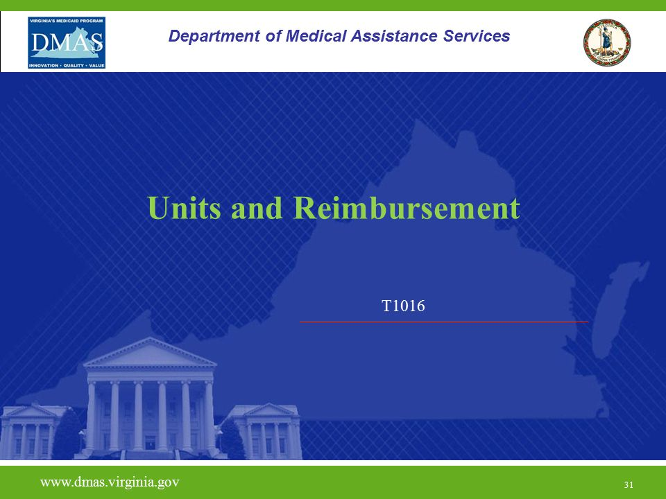 Units and Reimbursement
