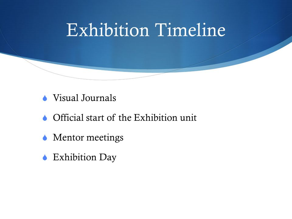 Exhibition Timeline Visual Journals