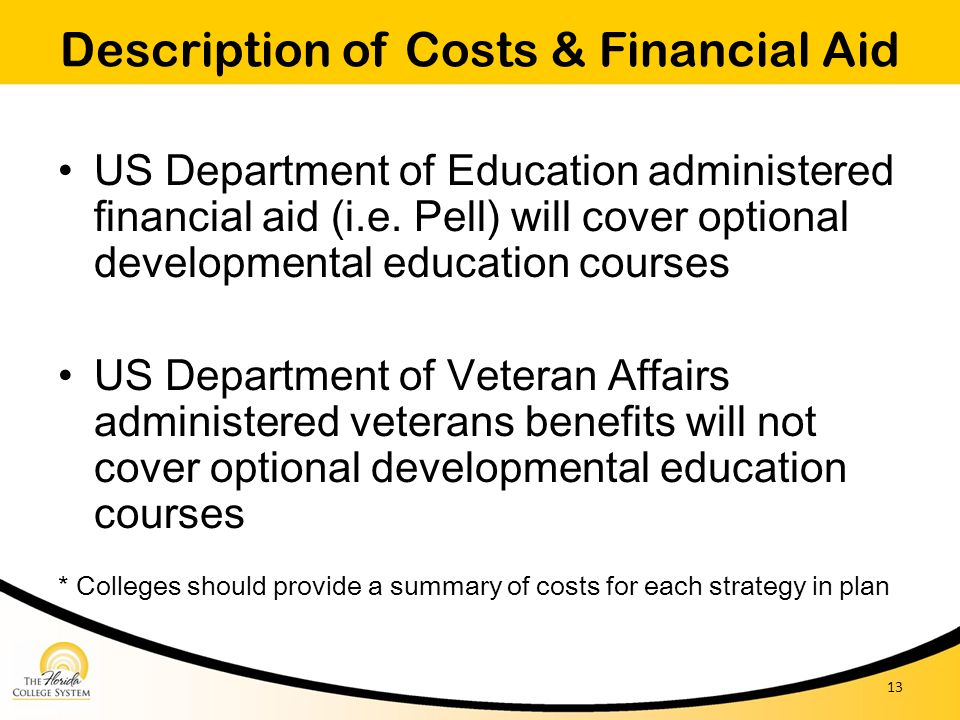 Description of Costs & Financial Aid