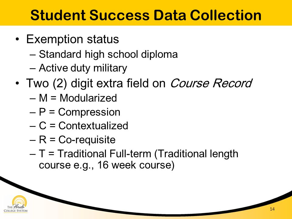 Student Success Data Collection