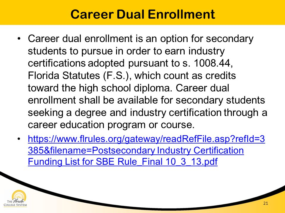 Career Dual Enrollment