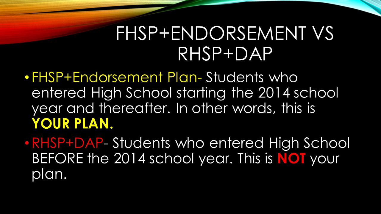 FHSP+Endorsement vs RHSP+DAP