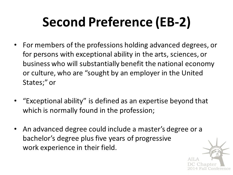 Second Preference (EB-2)