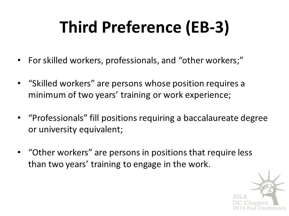 Third Preference (EB-3)