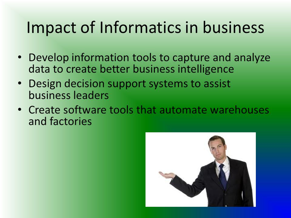 Impact of Informatics in business