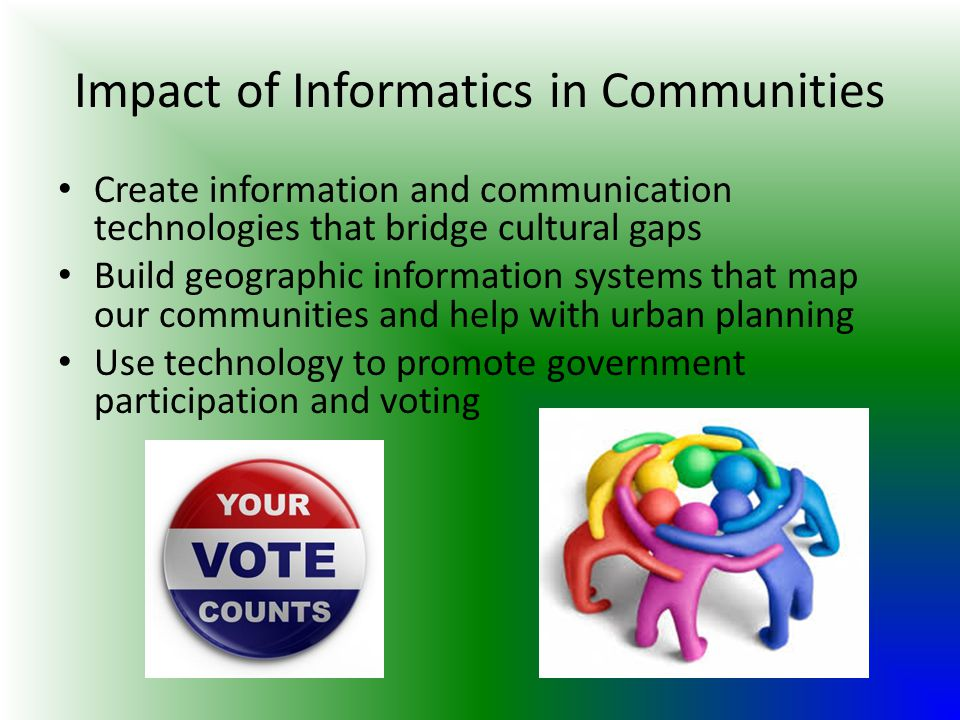 Impact of Informatics in Communities