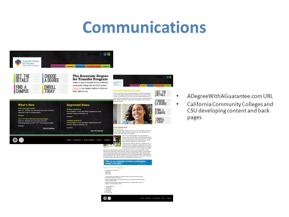 Communications ADegreeWithAGuarantee.com URL