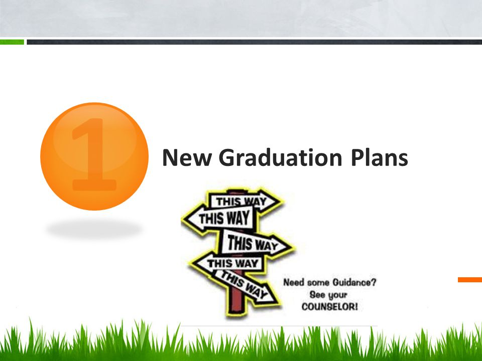 1 New Graduation Plans