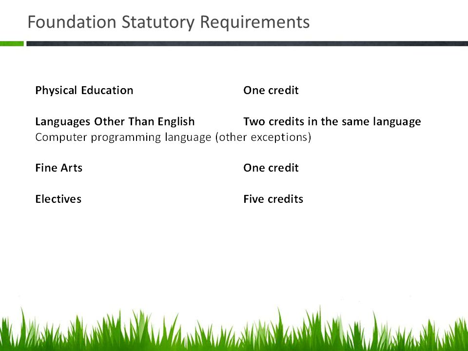Foundation Statutory Requirements