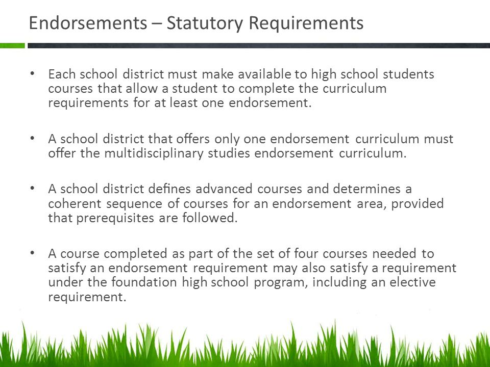 Endorsements – Statutory Requirements