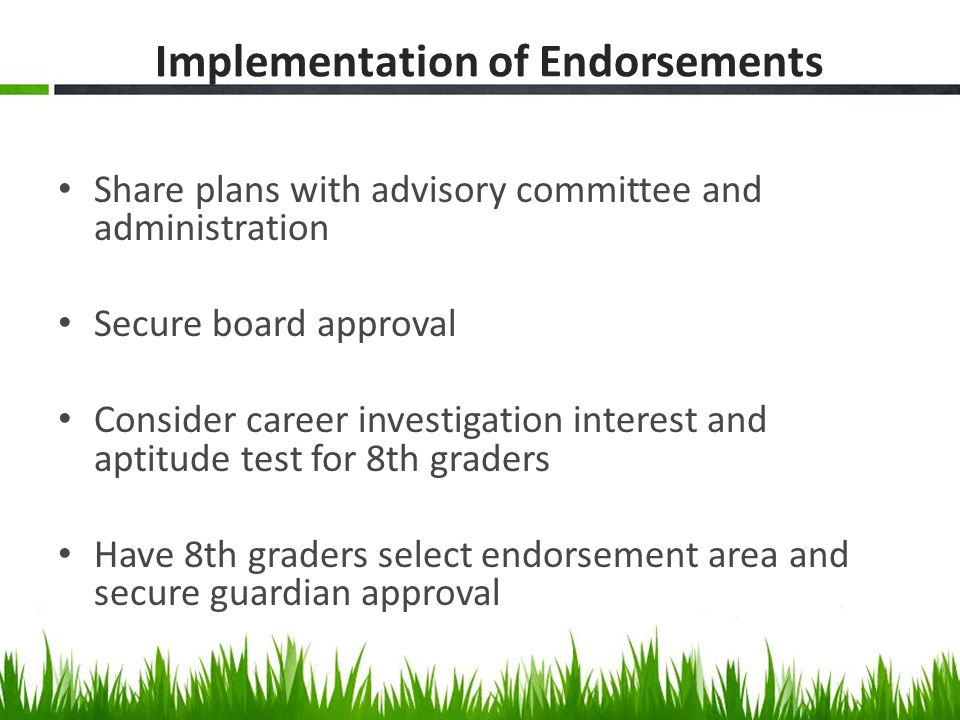Implementation of Endorsements