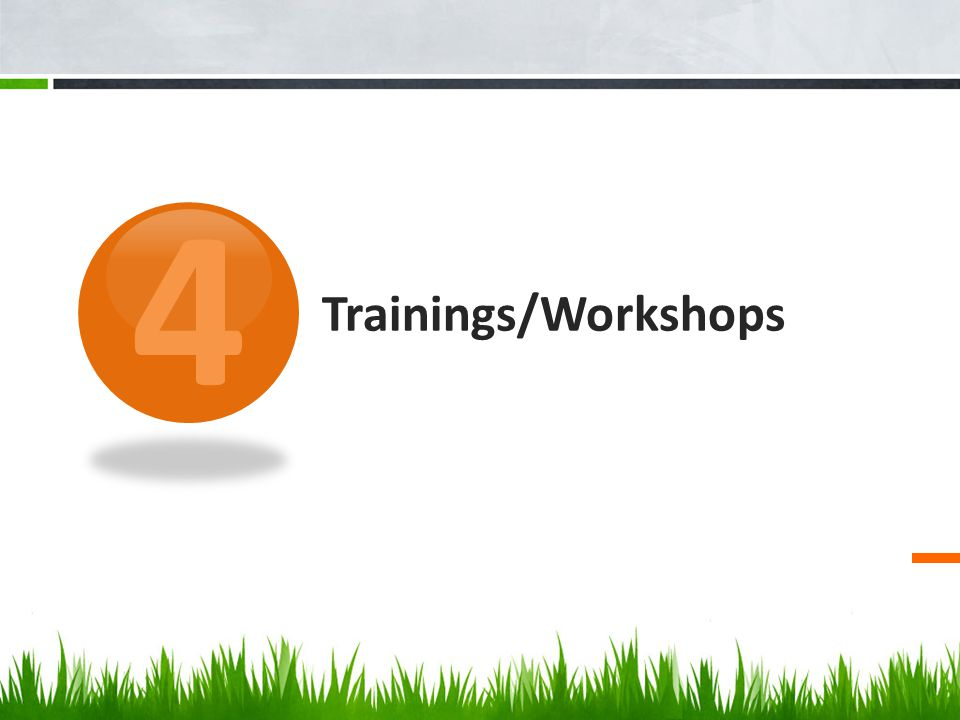 4 Trainings/Workshops