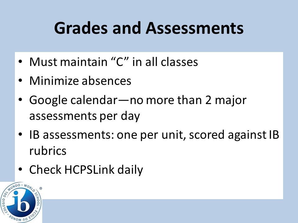 Grades and Assessments