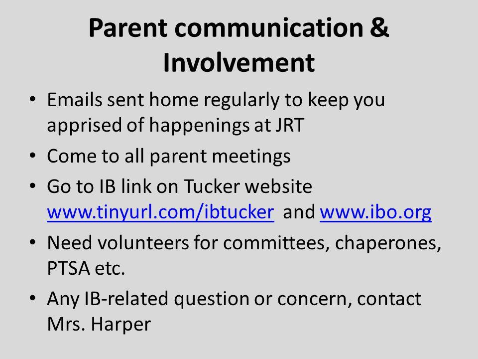 Parent communication & Involvement