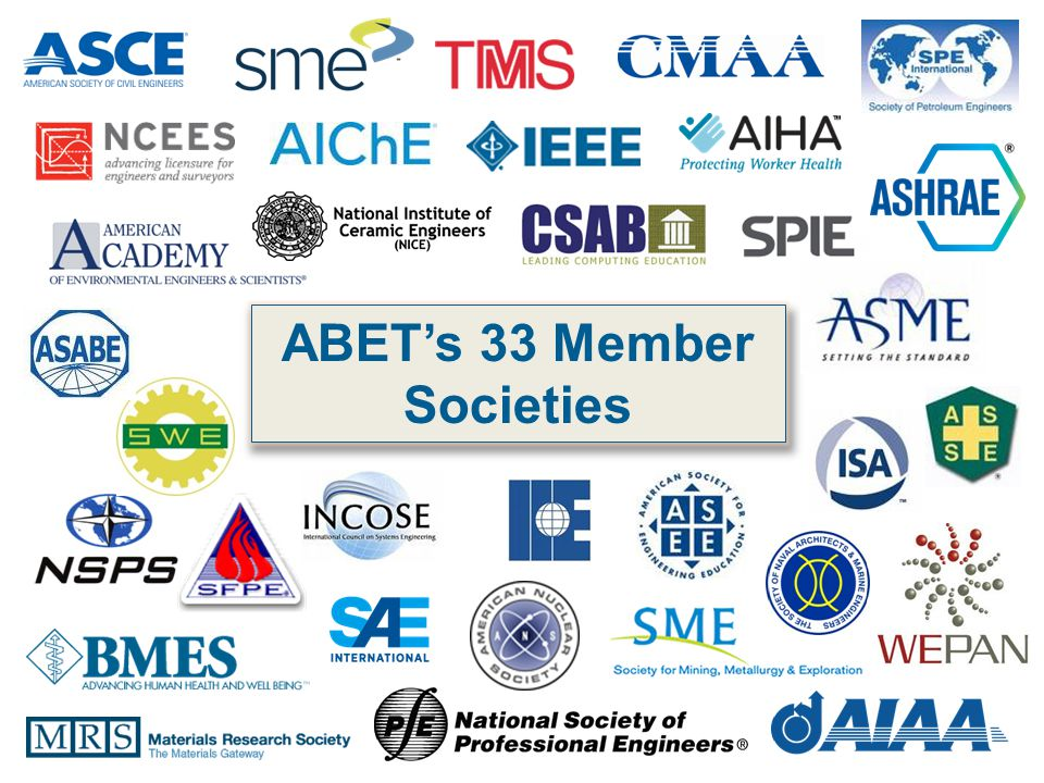 ABET's 33 Member Societies