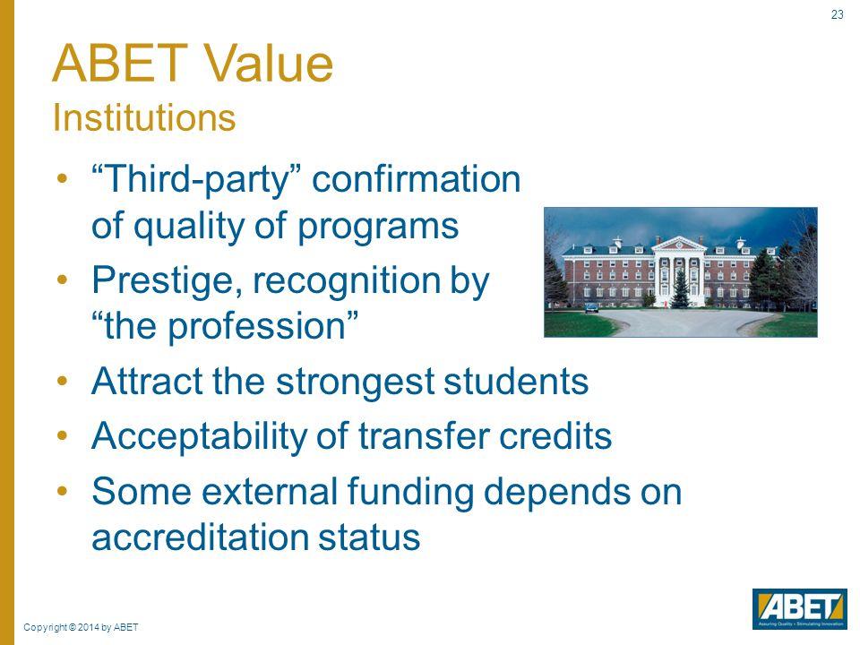 ABET Value Institutions