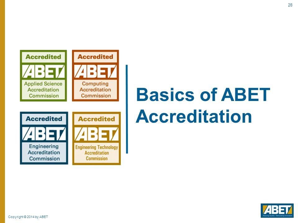 Basics of ABET Accreditation
